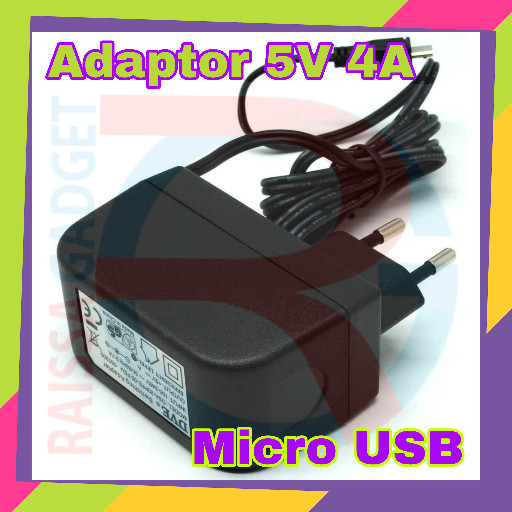 harga 5v 4a micro usb microusb adaptor charger for raspberry pi 3 smartphone Tokopedia.com
