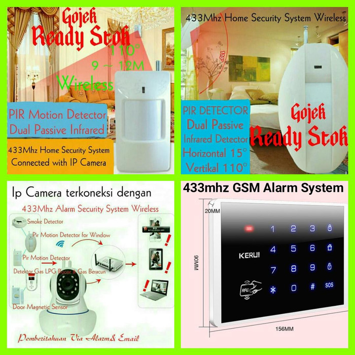harga Pir motion detector wireless 433mhz home security system Tokopedia.com