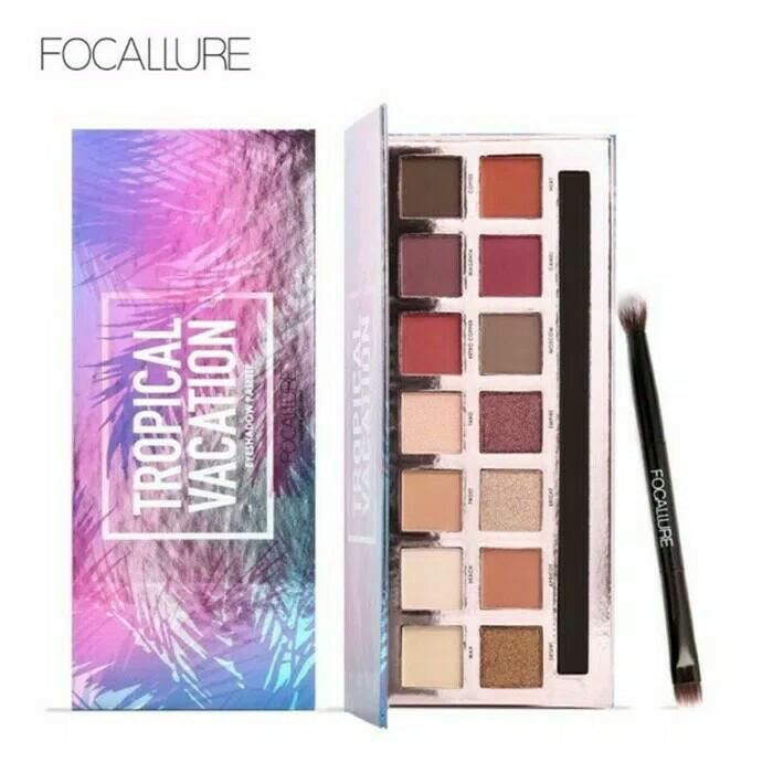 harga Focallure tropical vacation 14 color eyeshadow Tokopedia.com