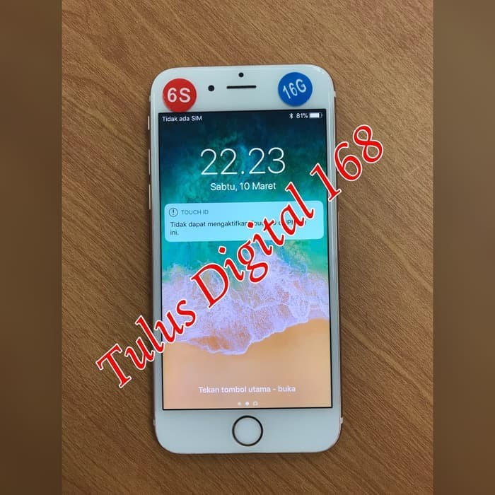 Jual Hp Iphone Handphone Iphone 6s 64gb No Fingerprint Ori