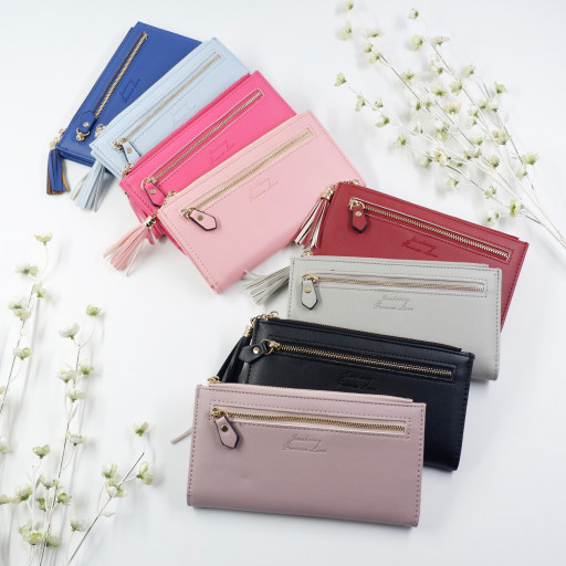 Carol Wallet, Jims Honey Original, Dompet Panjang, Wanita, Import