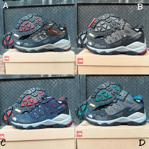 sepatu gunung TNF the north face cedar messa mid import premium BNIB - biru  abu b0e0dd41ec