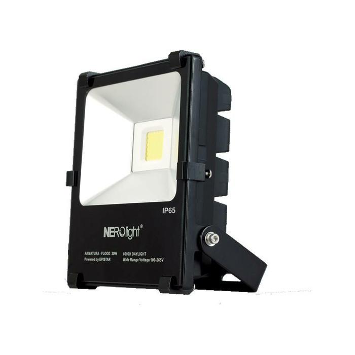 100W COB Outdoor LED Flood Light 6000K Daylight IP65 Black Waterproof