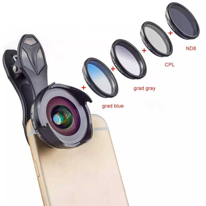harga Lensa hp apexel hd prof wide angle/macro with grad nd filter cpl Tokopedia.com