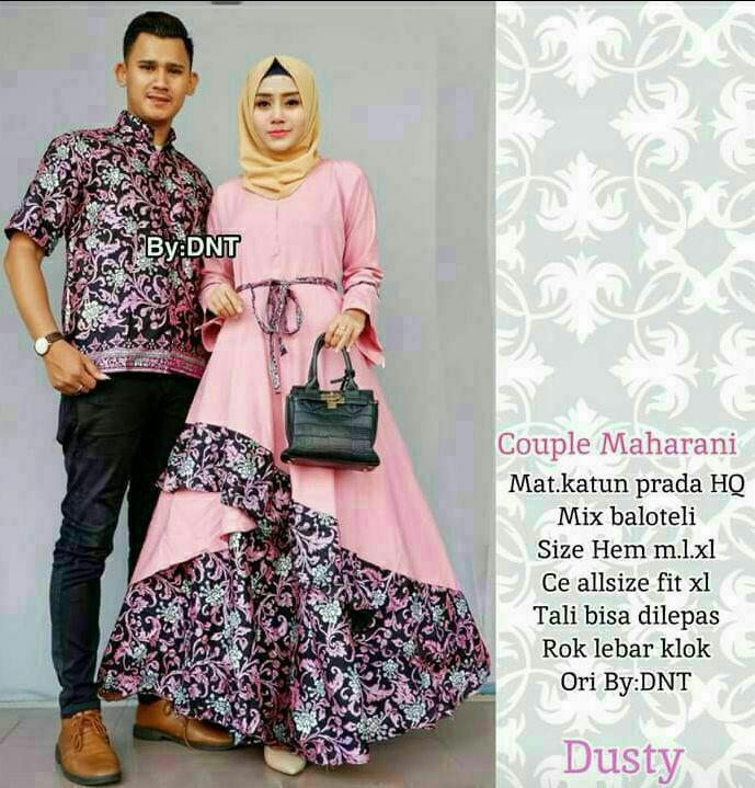 Batik Termurahhh Maharani Couple Dilan Mahkota - Kuning, M