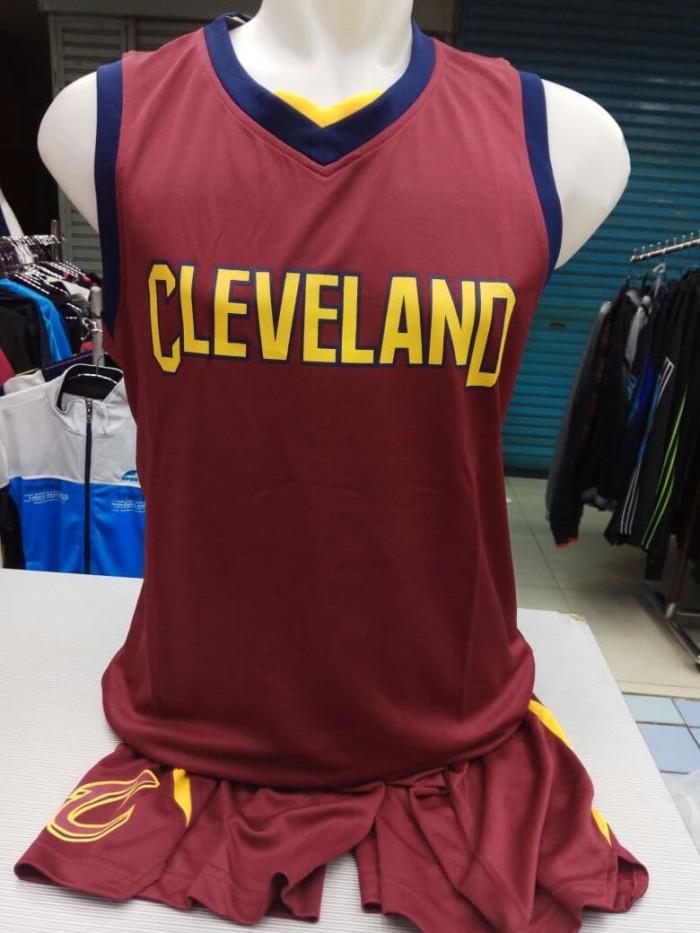 100% authentic 7d5ee b2c35 Jual Setelan Jersey Baju Basket NBA Anak Impor - Cleveland Cavaliers Maroon  - DKI Jakarta - Drew Collection | Tokopedia