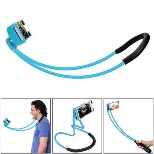 Lazy pod Leher Dan Pinggang / Lazypod Hanging Phone Holder Hp Di Leher - Putih
