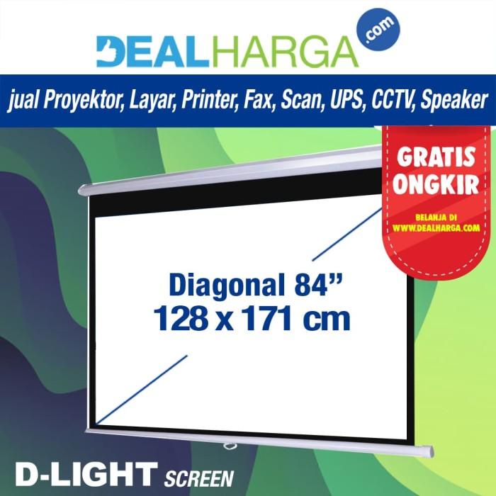 harga Layar proyektor manual d-light 84 inch - 18 meter screen projector Tokopedia.com