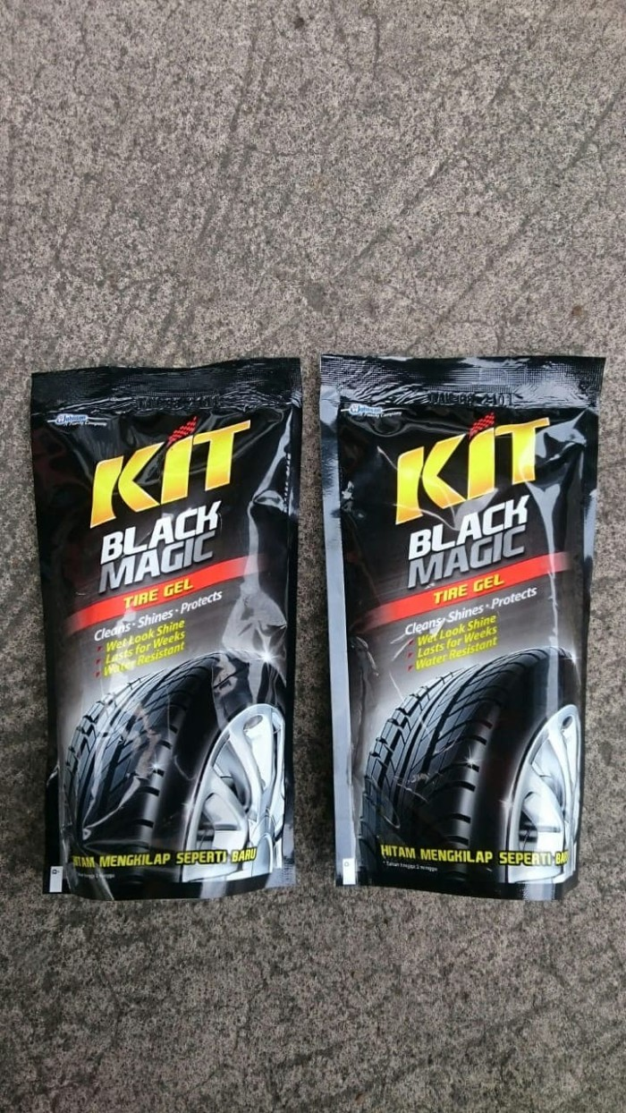 Kit Perawatan Motor Black Magic Tire Gel Pengkilap Ban Pouch 200 Ml Meguiars Endurance High Gloss G7516 2 Bh Semir Mobil