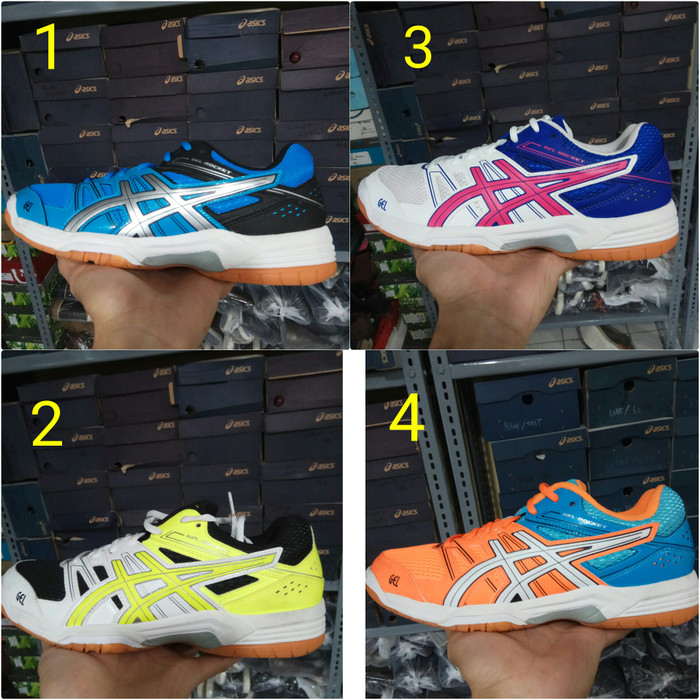 Jual sepatu badminton tenis asics gel rocket original - Biru 721590f953