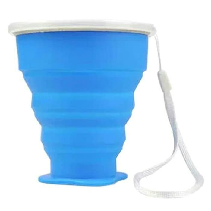 Foto Produk Gelas lipat / gelas portable gelas travel gelas camping silicon 200ml dari Wali Limbung Store