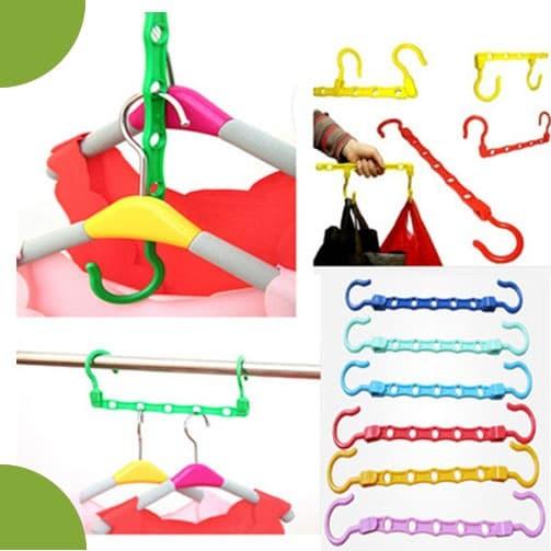 Colorfull Wonder Hanger Magic gantungan baju lemari pakaian Laundry
