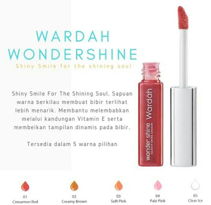 Wardah Wonder Shine Lipgloss No 1-5