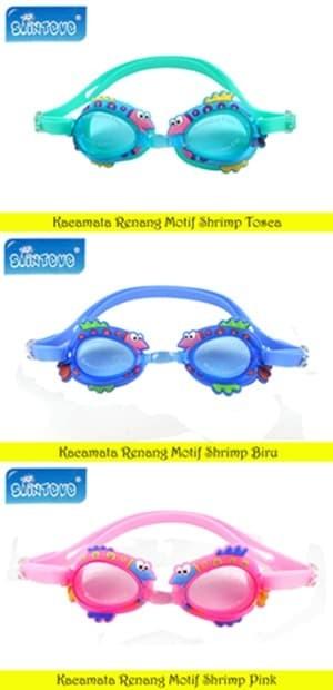 Sainteve Kacamata Renang Anak Motif - shrimp blue