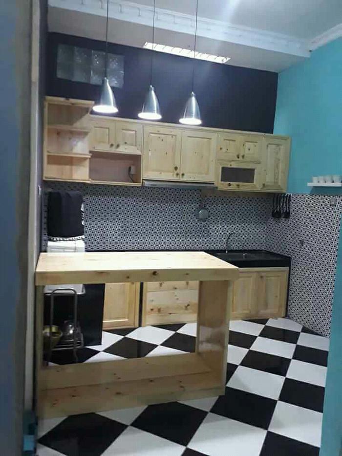 Meja Dapur Kayu Desainrumahid com