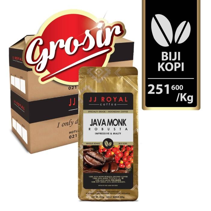 Horeca jj royal coffee java monk robusta beans (kopi biji)
