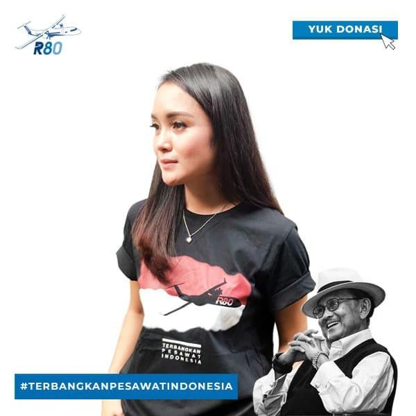 harga Official t-shirt r80 : terbangkan pesawat indonesia - hitam s Tokopedia.com