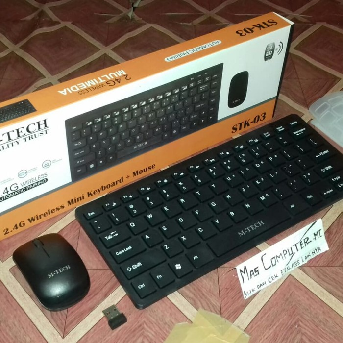 74bf7b3510c Keyboard Wireless Mini Combo M TECH STK 03/Keyboard Wireless Mini - Hitam