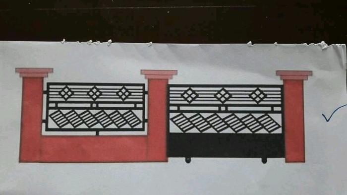 Jual Pagar Minimalis Murah Kota Depok Kanopy Baja Ringan
