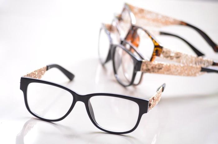 Jual kacamata wanita murah jo71 (frame lensa) anti radiasi - Crystal ... d01bb43d31