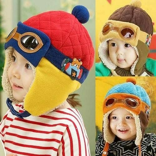 ... Bayi Anak Laki laki Perempuan Musim Dingin Hangat Topi Anak Balita Lucu  Kucing Telinga Rajut f670df5147