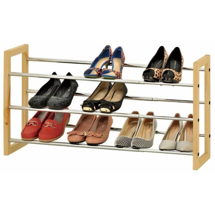 harga Jysk shoe rack extendable eriksen 120x21x45cm metal/ rak sepatu Tokopedia.com