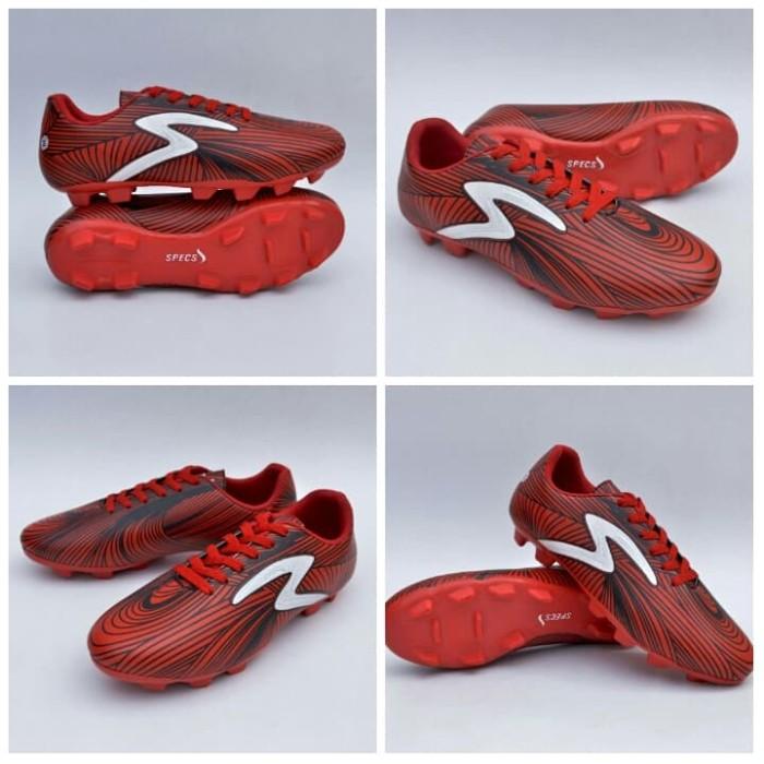 harga Sepatu bola specs baricada red black white 39-44 import Tokopedia.com