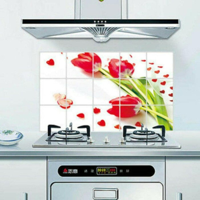 Stiker Dapur Anti Minyak 55x85 Kitchen Sticker Panas Air