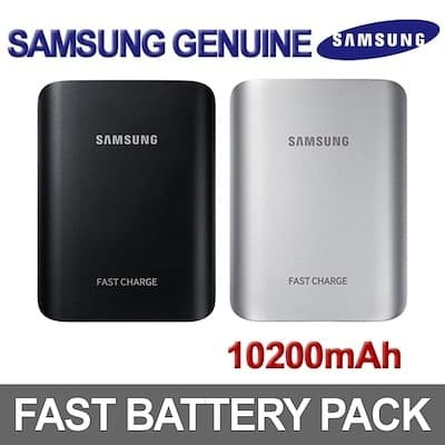100% ORIGINAL SAMSUNG Battery Pack 10200mAh Fast Charge - Hitam