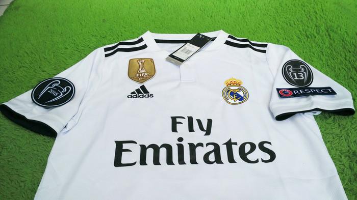 b8b671408 Jual Jersey Real Madrid Home FULL PATCH UCL 2018 2019 Grade Ori ...