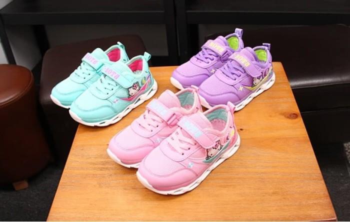 harga Sepatu kets anak hello kitty / sepatu kets hk led - 23 pink Tokopedia.com