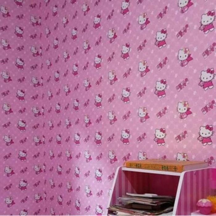 Jual Wallpaper Hello Kitty 10 Meter 45cm Hk Wall Paper Hellokitty Interio Kota Surabaya Global Shop Acc Tokopedia