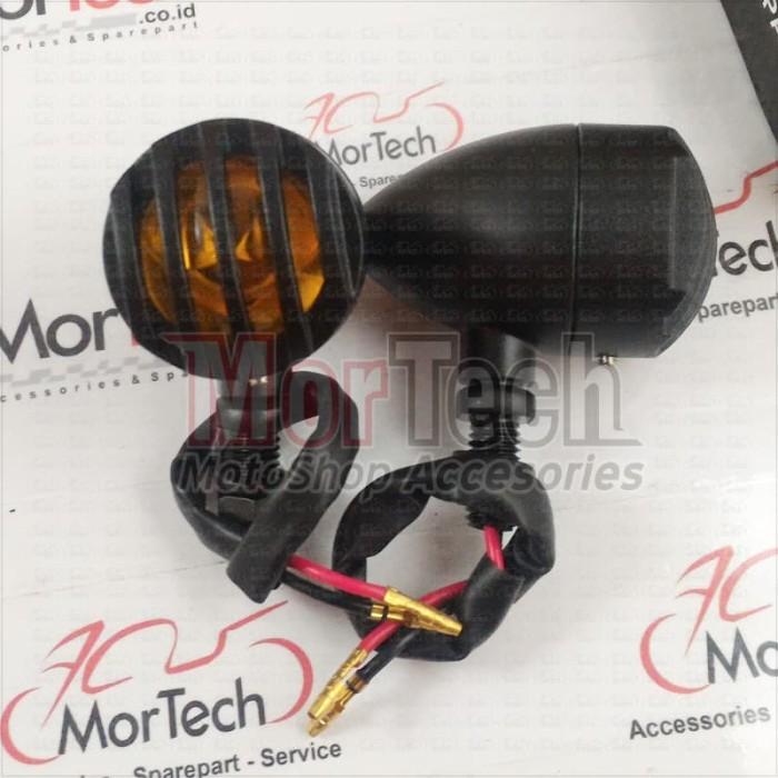 harga Lampu sen sein grill tralis motor custom retro japstyle caferacer blac Tokopedia.com