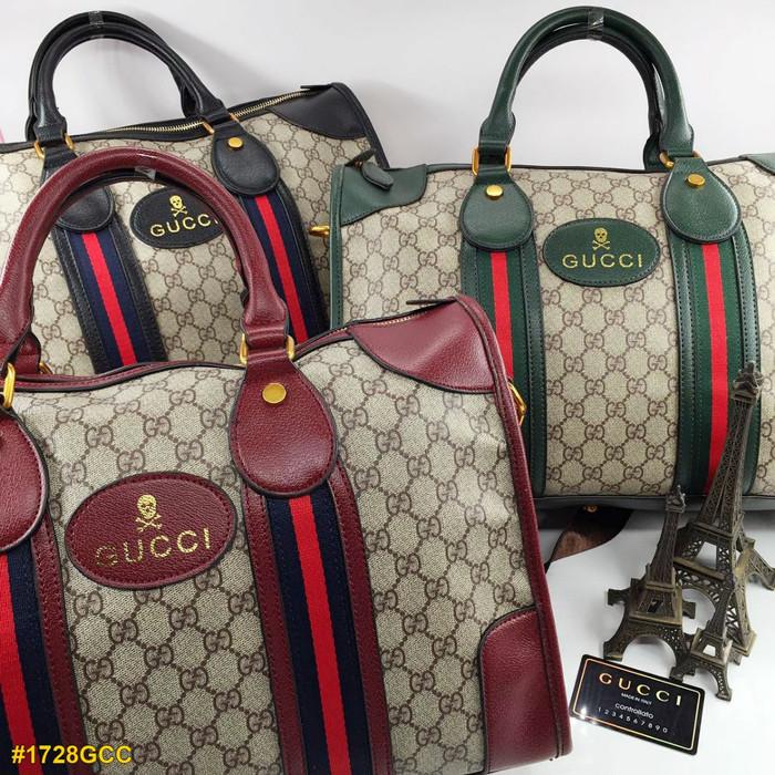 59ba5b4dfe5761 Jual Gucci Keepall Bandou #1728GCC -- Tas Fashion Branded - Maroon ...