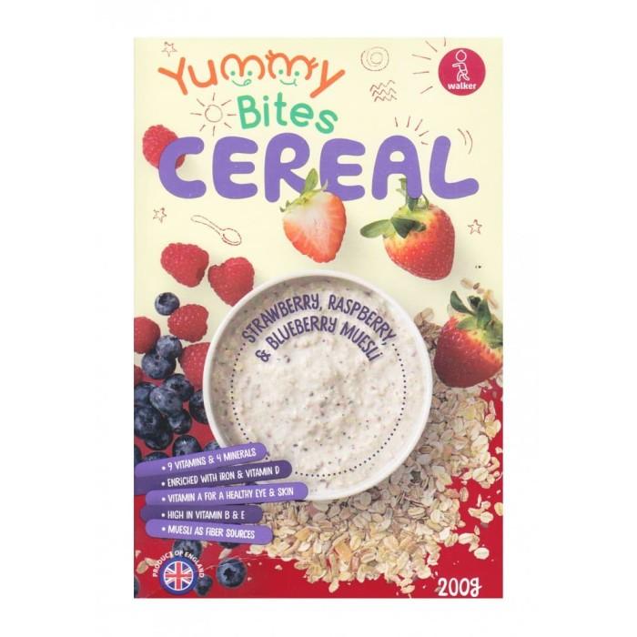 yummy bites cereal 200 gr - strawberry raspberry & blueberry muesli