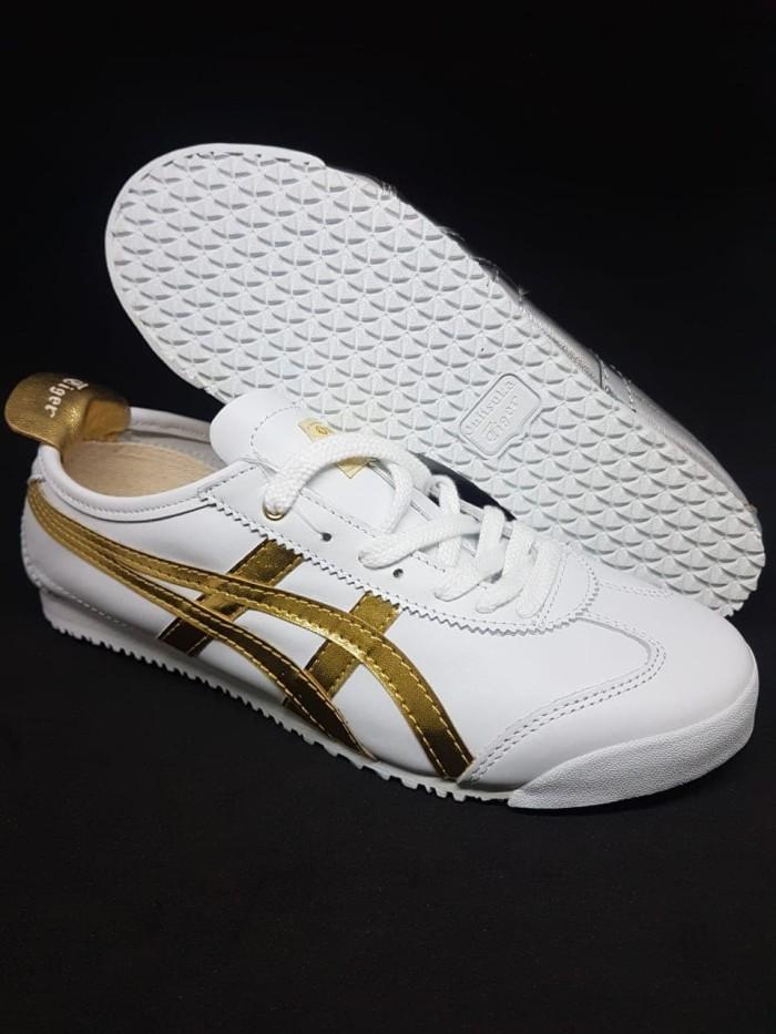 sale retailer fec4b ee697 Jual Asics Onitsuka Tiger Mexico 66 Leather White Gold Premium Original -  DKI Jakarta - ridoshop9 | Tokopedia