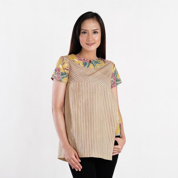 harga Batik pria tampan - blouse sunny sekar cupu taru lurik comb - beige s Tokopedia.com