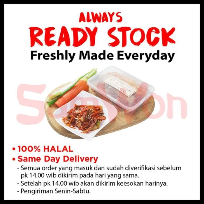 ... Kimchi Mix Sawi Wortel Lobak Fresh 500 Gram Samwon Makanan Korea