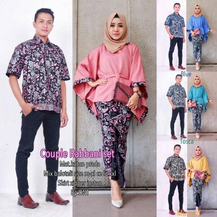 Jual Baju Batik Couple Sarimbit Seragam Pesta Hijab Gamis Kebaya Muslim Dki Jakarta Vita 5hop Tokopedia