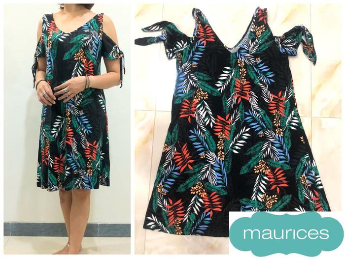 66cfb5da2e Jual BBJ01568 Maurices Summer Breeze Cut Shoulder Dress Pantai Dress ...