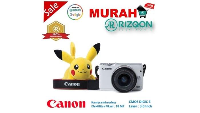 CANON EOS M10 Kit EF M 15 45mm IS STM Kamera Mirrorless Gratis Pokem 1