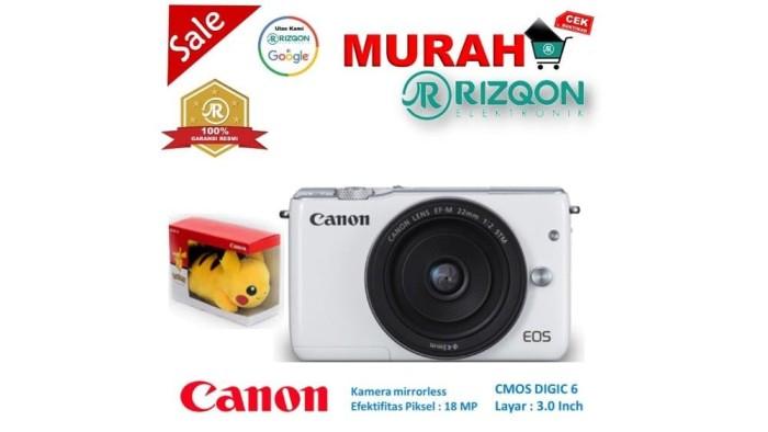 CANON EOS M10 Kit EF M 15 45mm IS STM Kamera Mirrorless Gratis Pokem 4