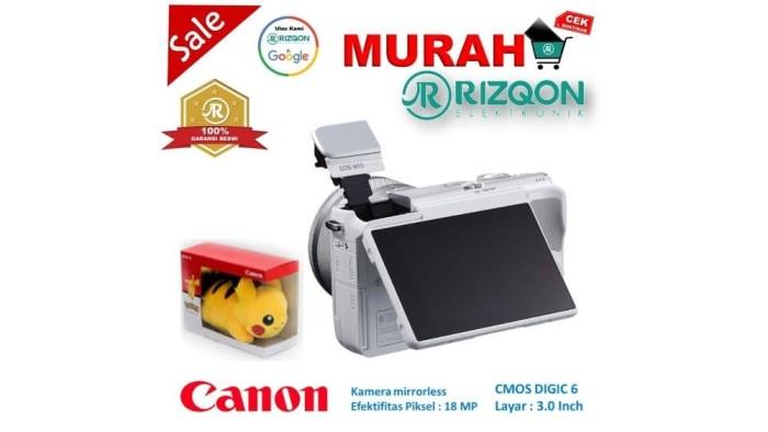 CANON EOS M10 Kit EF M 15 45mm IS STM Kamera Mirrorless Gratis Pokem 2