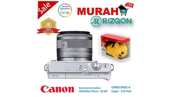 CANON EOS M10 Kit EF M 15 45mm IS STM Kamera Mirrorless Gratis Pokem 3