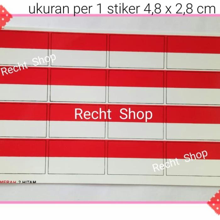 Jual Stiker Sticker Tempelan Wajah Bendera Merah Putih Bendera Indonesia Kota Bekasi Recht Shop Tokopedia