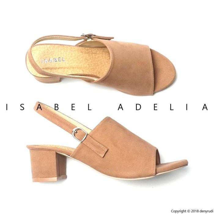 Sepatu Wanita Hak Tinggi Block Heels Hitam Abu Moka Merah Isabel WIZZY