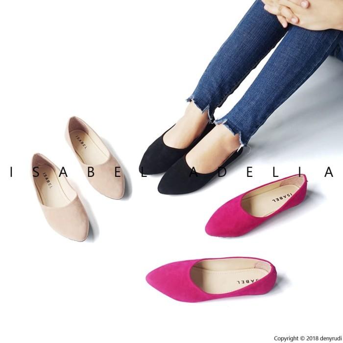 harga Sepatu balet wanita casual flat shoes simple hitam moka isabel adriana Tokopedia.com