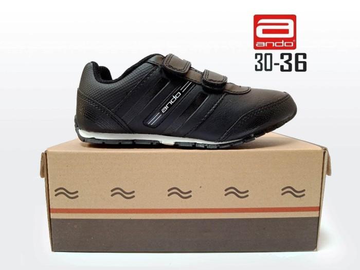 harga Sepatu ando diva light velcro sepatu sekolah anak perempuan kets tk sd Tokopedia.com