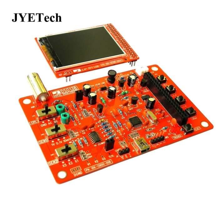 Digital storage oscilloscope dso138 diy kit 1msps digital osiloskop. Elektronik ...