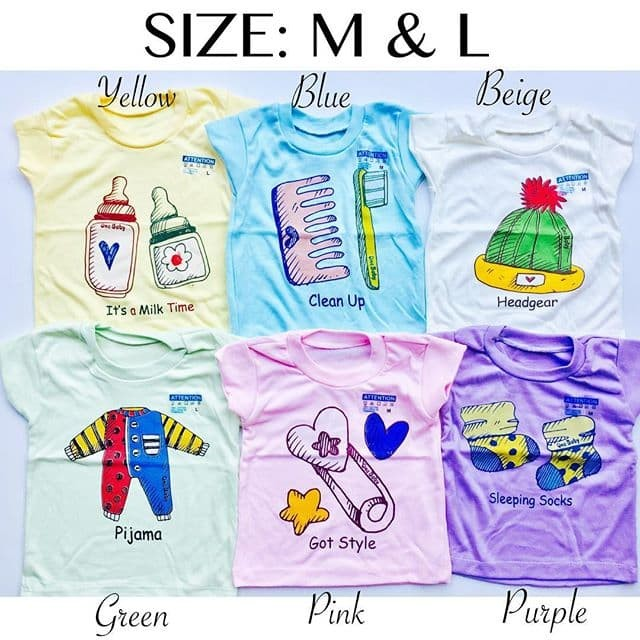 Foto Produk KAOS OBLONG ANAK L baju anak grosir baju bayi grosir kaos harian anak - random boy dari babeebabyshop2